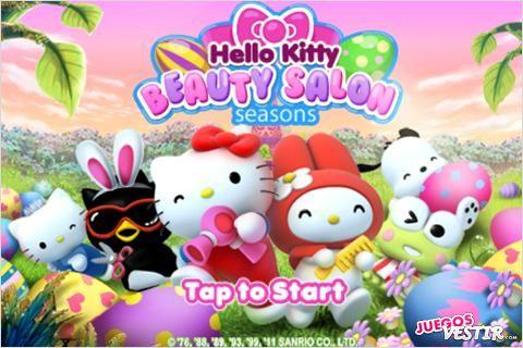 Captura de pantalla del juego Hello Kitty Beauty Salon Seasons