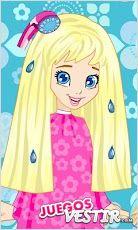 Captura de pantalla del juego Polly Cool HairStyle 2
