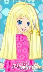Captura de pantalla del juego Polly Cool HairStyle
